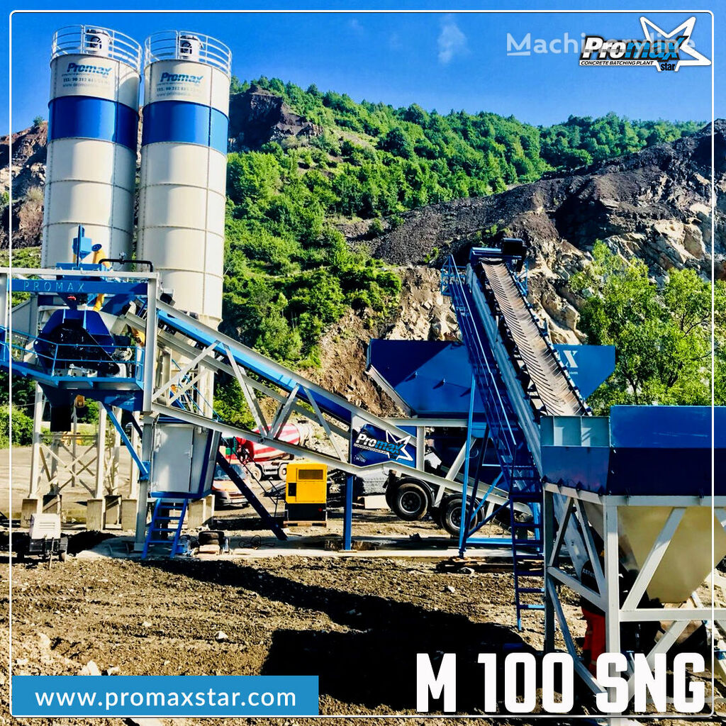 új PROMAX MOBILE CONCRETE BATCHING PLANT M100-SNG Single Shaft  betonüzem