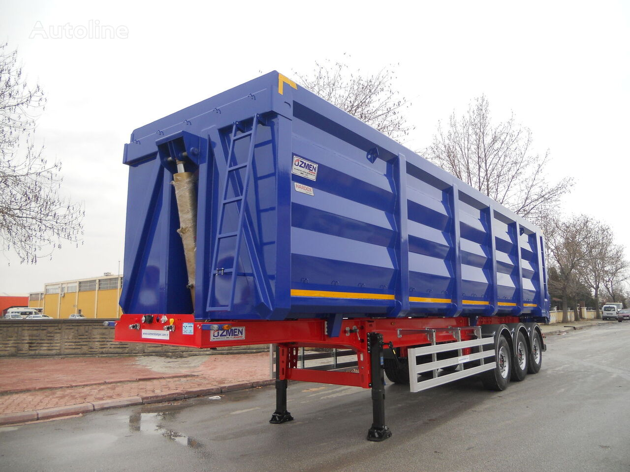 új Ozmen Damper 55-60-70 m3 H-450 SCRAP METAL CARRIER  billenős félpótkocsi