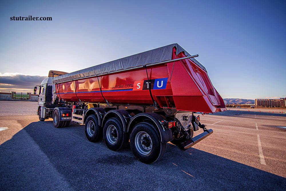 új STU 24 m3  TIPPER TRAILER  billenős félpótkocsi