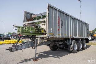 FLIEGL ASW 393 Tridem push off trailer, 2 steered axles, 29.000 kg, sus billenős pótkocsi