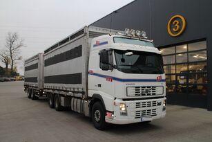 VOLVO FH12.480 CHICKEN TRANSPORTER állatszállító teherautó + állatszállító pótkocsi