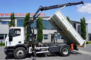 IVECO Eurocargo 160E25 , EEV , 4X2 , tipper + Crane , Remote Control  billenős teherautó