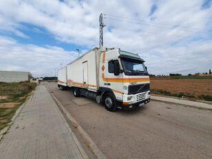 VOLVO FH12 380 dobozos teherautó + pótkocsi