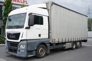 MAN TGX 26.440 XLX , E6 , 6X2 , MEGA , 19 EPAL , RSAS system függönyponyvás tehergépkocsi