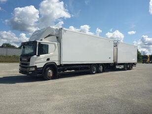 SCANIA P410 hűtős teherautó + pótkocsi