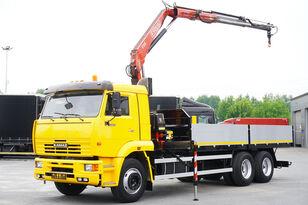 KAMAZ 65117 , 6x4 , Crane Fassi 95 , rotator , box 6m platós teherautó