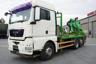 MAN TGX 26.440 XLX  ,E5 , steer axle , Crane Palfinger Epilson + rem platós teherautó