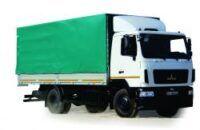 új MAZ 534026 ponyvás teherautó