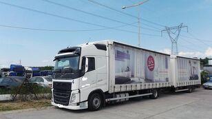 VOLVO fh 420 EURO 6 ponyvás teherautó + ponyvás pótkocsi