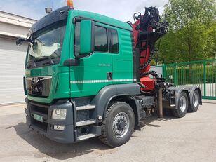 MAN TGS 26.480 6x6 H + crane Epsilon 260 rönkszállító teherautó
