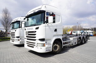 SCANIA R490 , E6 , 8X2/4 , Tridem , chassis 9m , 2x lift axle , retarde teherautó alváz