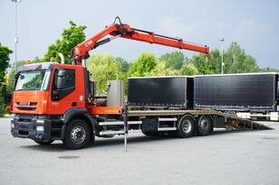 IVECO Stralis 360, EEV, 6x2, 7.8m tow truck, lift axle , CRANE HIAB ma vontató